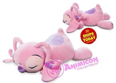 "Disney Store ANGEL CUDDLEEZ PLUSH 25"" LARGE Pink SOFT TOY LIES FLAT NEW 2018"