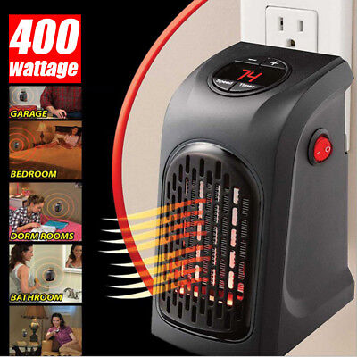 400W 220V Mini Furnace Heater Fan Portable Plug-in Electric Wall outlet Space