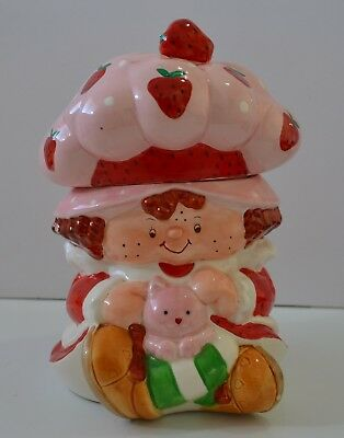 Vintage Strawberry Shortcake 1983 Ceramic Cookie Jar Canister RARE VGC