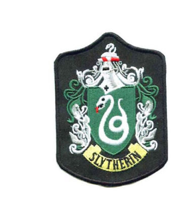 Harry Potter Slytherin Embroidered Badge Style 2 Sew On / Iron On Patch