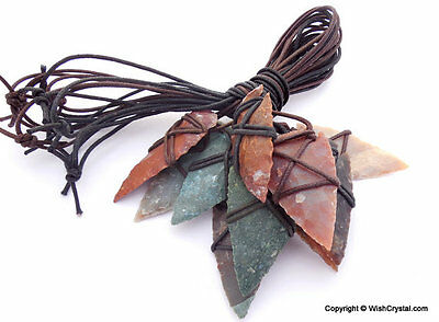 Natural Arrowheads Lot Of 10 Flint Stones Wire Wrap For Reiki Native American