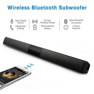 Wireless Bluetooth TV Soundbar 2 4 Speakers Sound Bar Home Theater Subwoofer RCA
