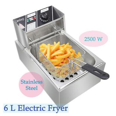 Stainless Steel Commercial Household Electric Deep Fat Fryer 10L Pan