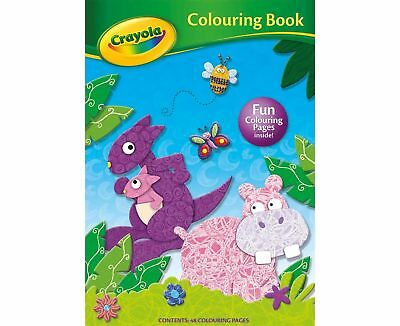 Crayola A4 Colouring Book 48 Pages To Colour Kids Activity Hippo Cute Animals