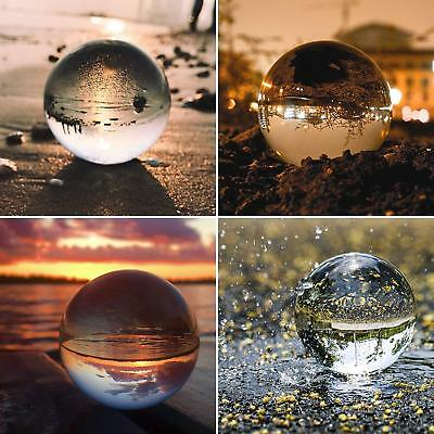 K9 50-80mm Clear Crystal Paper Photography Lens Ball Photo Prop Decor + Holders