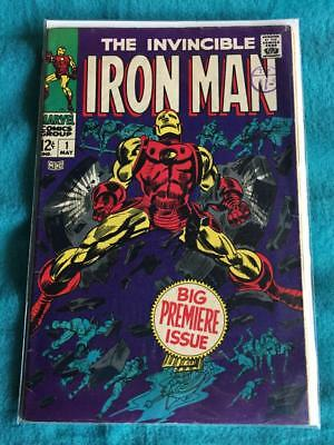 Marvel Comics IRON MAN #1 – 1968 Big Premiere Issue – Silver Age