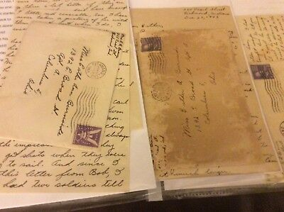 WW2 4 letters between sweethearts of Army men, news from men, homefront life, tr