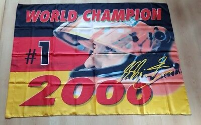 Fahne/Flagge Formel 1 Michael Schumacher Formula One World Champion 2000 Ferrari