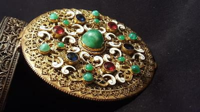 Large Impressive Antique Jeweled Austrian / French Compact