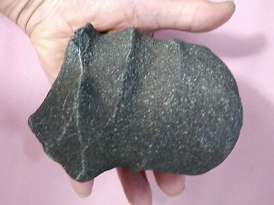 Authentic American Indian Stone Axe Head - 2 Groove