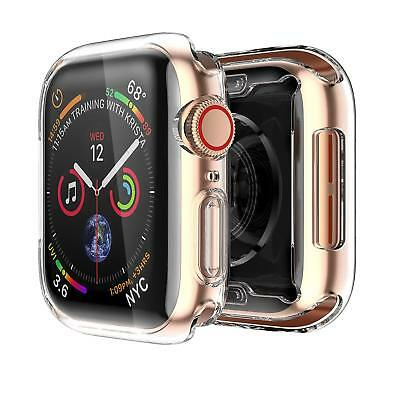 For Apple Watch 4 40mm All Round 360 Protective Clear Case TPU Screen Protector