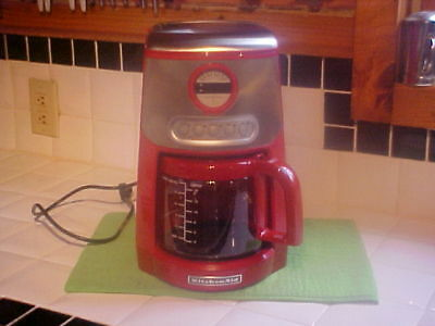 VINTAGE KITCHENAID COFFEE Maker Red #Kcm534Ero 14 Cup Vgc Works Great !  Clean !