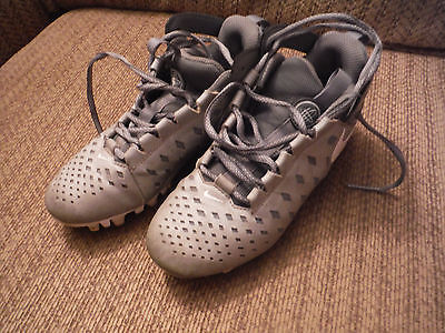 NIKE Youth 3Y Gray Huarache Lacrosse Cleats Shoes