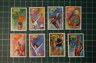 Various Nevis MNH Miniture stamp sets thematics