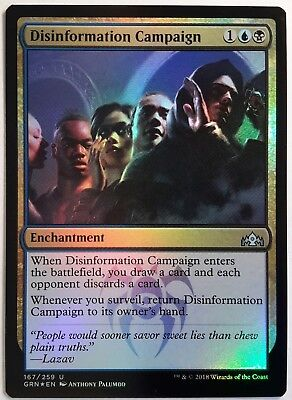 2x Disinformation Campaign NEW MTG Guilds of Ravnica