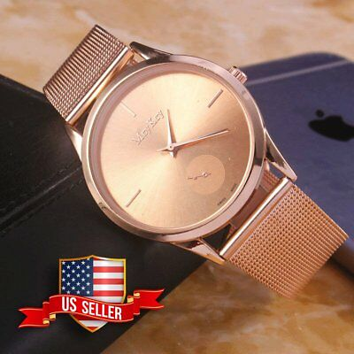 Fashion Women Ladies Bracelet Stainless Steel Dial Analog Quartz Wrist Watch USA