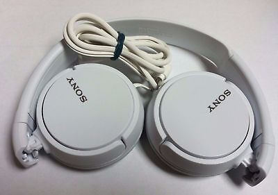 SLIGHTLY USED: SONY MDR-ZX110 Stereo Over Ear Swivel Headphone White
