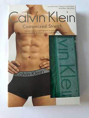 45ba6bc78e44 Calvin Klein Low Rise Trunk Customized Stretch Men's Underwear Green Size L