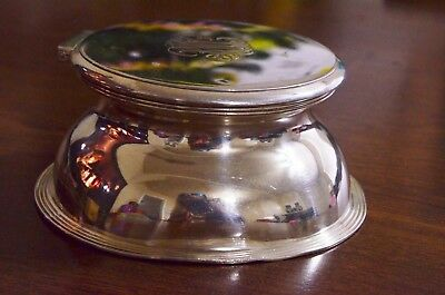 Antique Mappin & Webb 925 Sterling Silver Vanity Hair Receiver # 9198 Hinged Lid