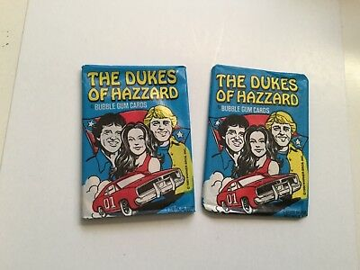Dukes of Hazzard tv show card two sealed packs 1981