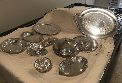 Vintage Silverplate Platters And Serving Bowls Set