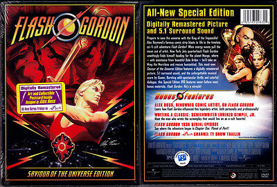 DVD Alex Raymond FLASH GORDON Saviour of the Universe Ross comic WS SE OOP NEW