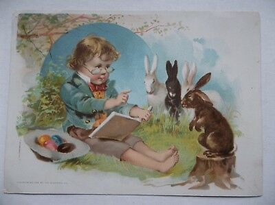 LION COFFEE*TRADE CARD*EASTER CARD**WOOLSON SPICE CO.**1890's