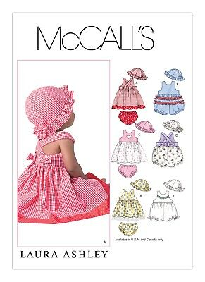 McCall's Sewing Pattern 4424 M4424 Babies S-XL Dresses Rompers Panties Hat