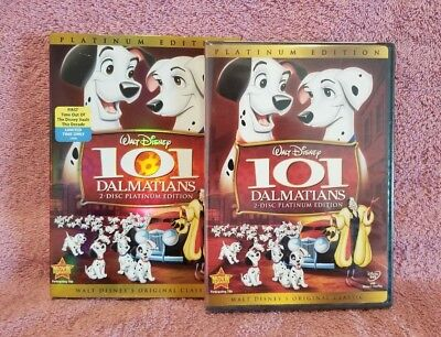 Disney:101 Dalmatians (Platinum Edition DVD w/Slip & Rewards) Buena Vista   NEW