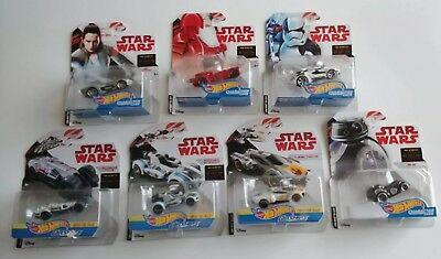 7 Star Wars Hot Wheels Character Cars Lot New Sealed Fast Shipping