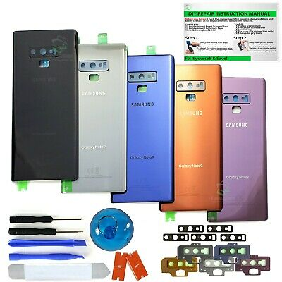 Back Glass Replacement Kit For Samsung Galaxy Note 9 w.CE+Camera Lens+IP68 Tape