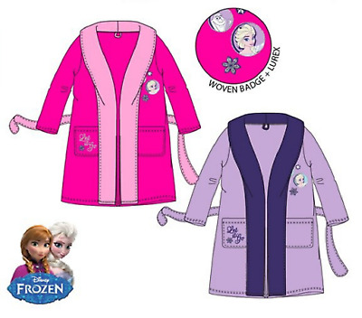 Girls Kids Disney Frozen Bath Robe Children Dressing Gown Size 4, 5, 6 & 8 Years