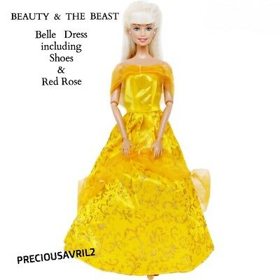 Brand new barbie doll princess clothes Belle dress outfit wedding evening