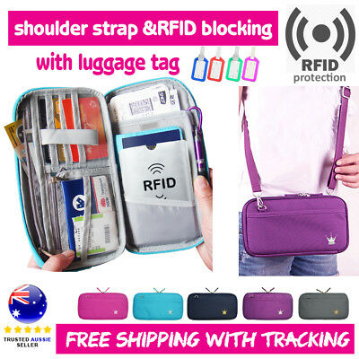 RFID Travel Wallet Passport Card Holder Pouch Organiser iPhone XS Zip Case Tag