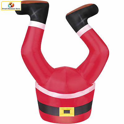 Santa Legs 4' Airblown Yard Inflatable Upside Down Funny Christmas