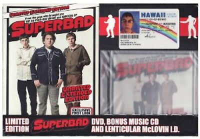 Superbad (DVD, 2007, Unrated; Extended Edition) FREE CD AND MCLOVIN ID - NEW!!