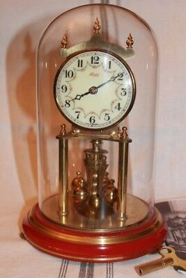 VINTAGE Kundo Junior 55 ANNIVERSARY CLOCK! Mint!  very nice colonial red base