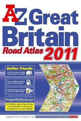 Very Good, A-Z Great Britain Road Atlas, Geographers' a-Z Map Company, Book