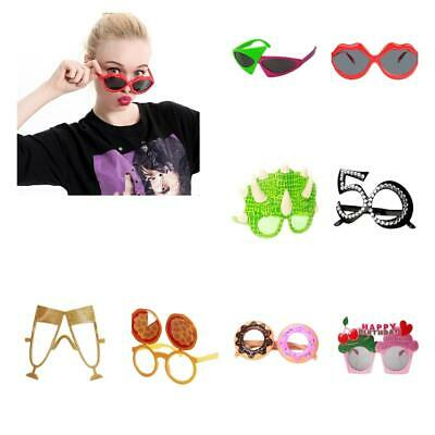 2b4f3e07a3 Assorted Funny Novelty Sunglasses Glasses Wedding Birthday Party Favors  Props
