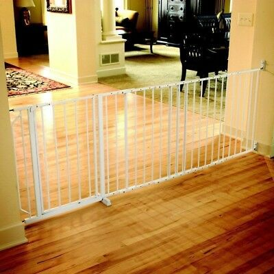 Baby Gate Extra Wide Hardware Mounted Top of Stairs Pet Security Safety Sturdy