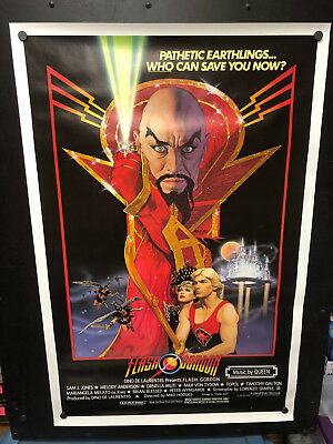 Original 1980 FLASH GORDON One Sheet Movie Poster Rolled Sci-Fi Classic Beauty!