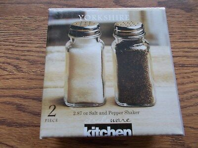 Circleware Yorkshire Glass Salt & Pepper Shakers New in Box