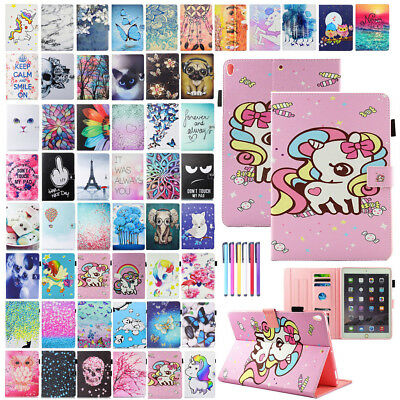 For iPad 9.7 2018/6th Gen Case Pattern Magnetic Smart Leather Wallet Stand Cover