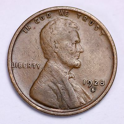 1928-S Lincoln Wheat Cent Penny LOWEST PRICES ON THE BAY!  FREE SHIPPING!