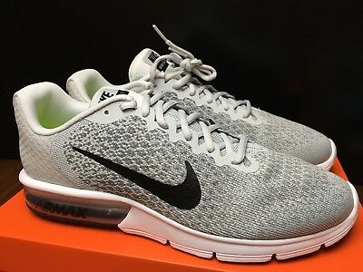 newest db440 31acd Nike Air Max Sequent 2 Mens Size 12 - New - Pure Platinum  Black Cool