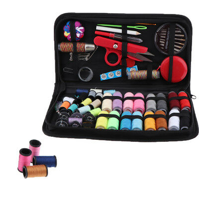 Set of 138pcs Portable Home Sewing Kit Case Needle Threads Scissor DIY Tools
