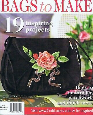 Vintage HAND BAG Embroidery Magazine 19 Patchwork Sewing Patterns Fun Styles