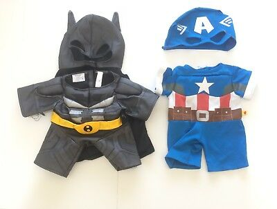 Build A Bear Clothes - Batman, Captain America