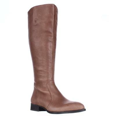 NINE WEST NICOLAH Wide Calf 6.5 Riding Stiefel 968, Cognac, 6.5 Calf US ... 30802d