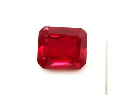 15.00 CT Natural Mozambique Blood Red Ruby Manik Emerald Cut Gems Ggl Certified
